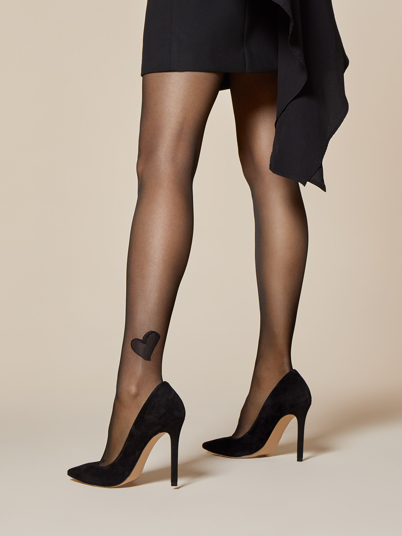 493a1357b165e Fiore Amare Heart Ankle Patterned Sheer to Waist Tights 20 Denier | eBay