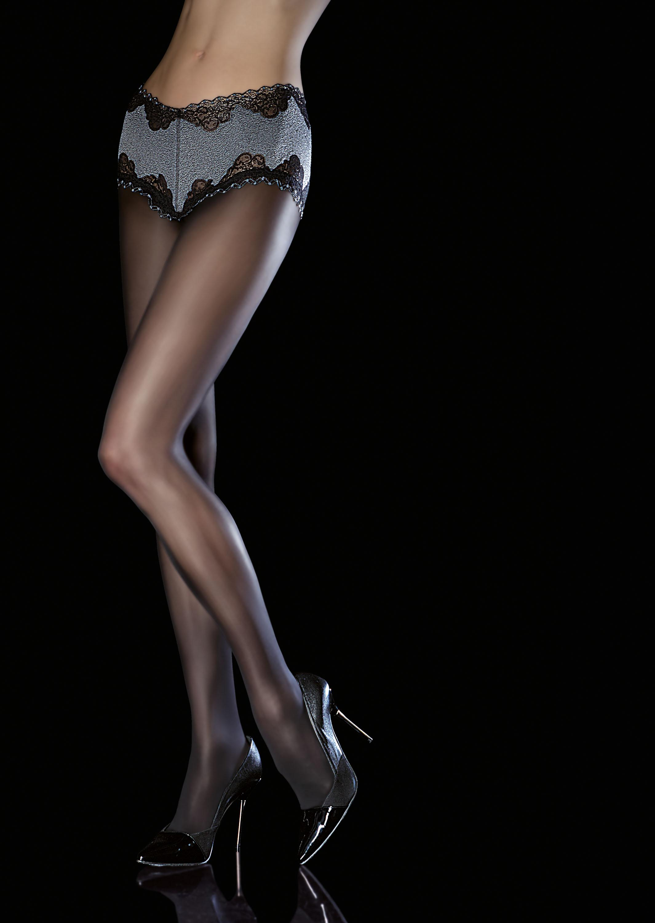 Fiore AMITIS Tights Luxury Tights 40 DEN with Lace Panty  New