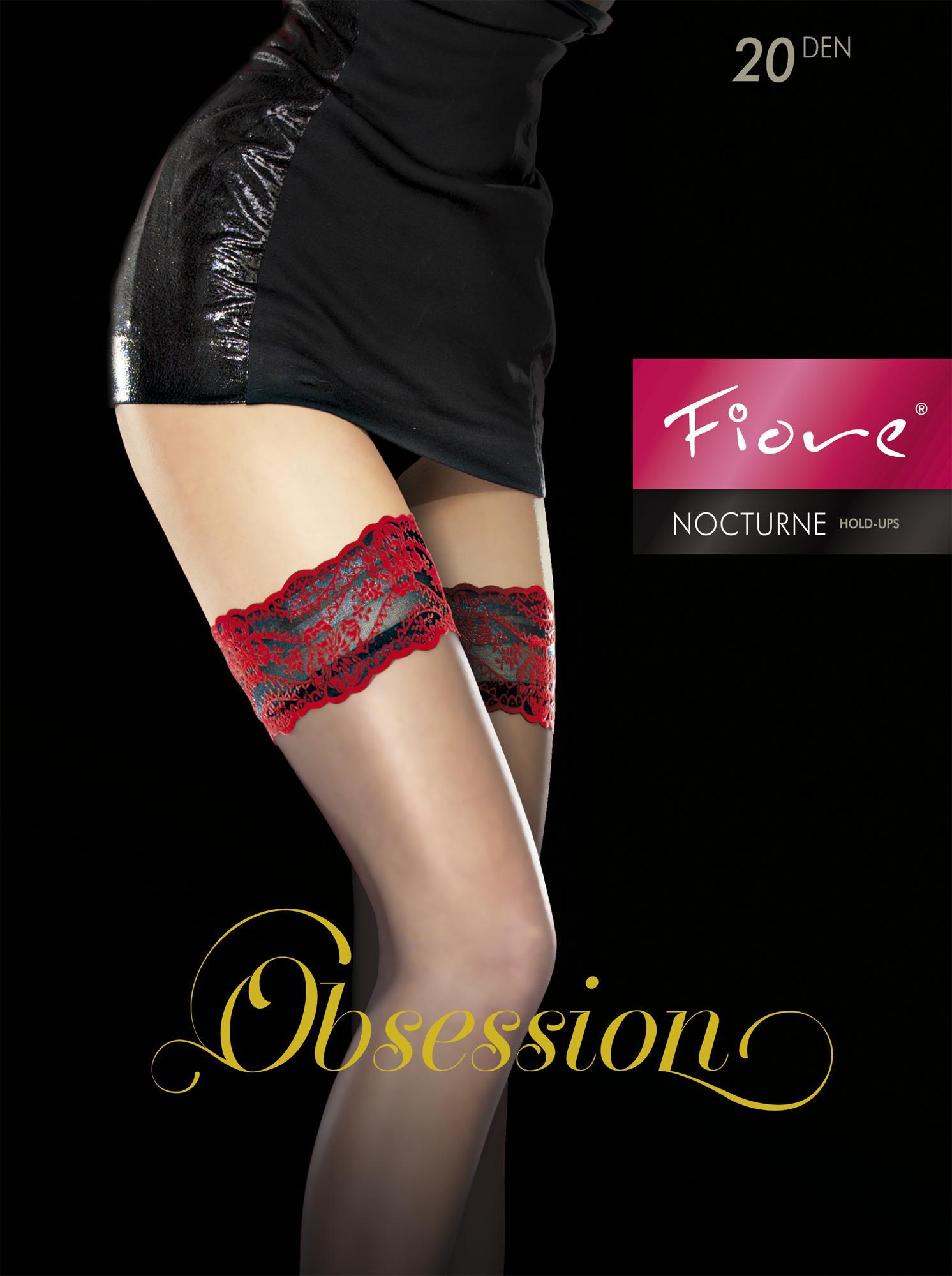 Seductive Fiore Obsession Exclusive Tenebra 20 Denier Sheer Lace Top Hold Ups